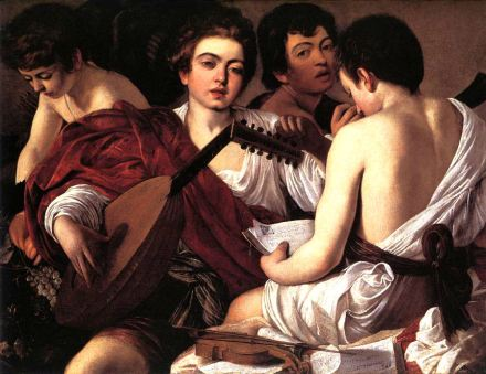 Concert of Youths by Caravaggio (c. 1595)